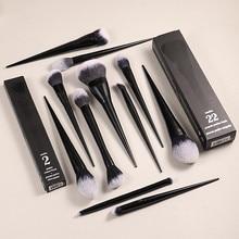 11Pcs Makeup Brushes Set (#10 20 22 25 35 40 1 2 4 Shade + Light) Powder Foundation Concealer Eye Shadow Cosmetics Brush