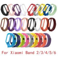Cinturino per Xiaomi Mi Band 6 5 4 3 2 cinturino in Silicone sostituzione cinturino per Xiaomi Band 5 6 Miband 4 3 2 cinturino morbido colore polso