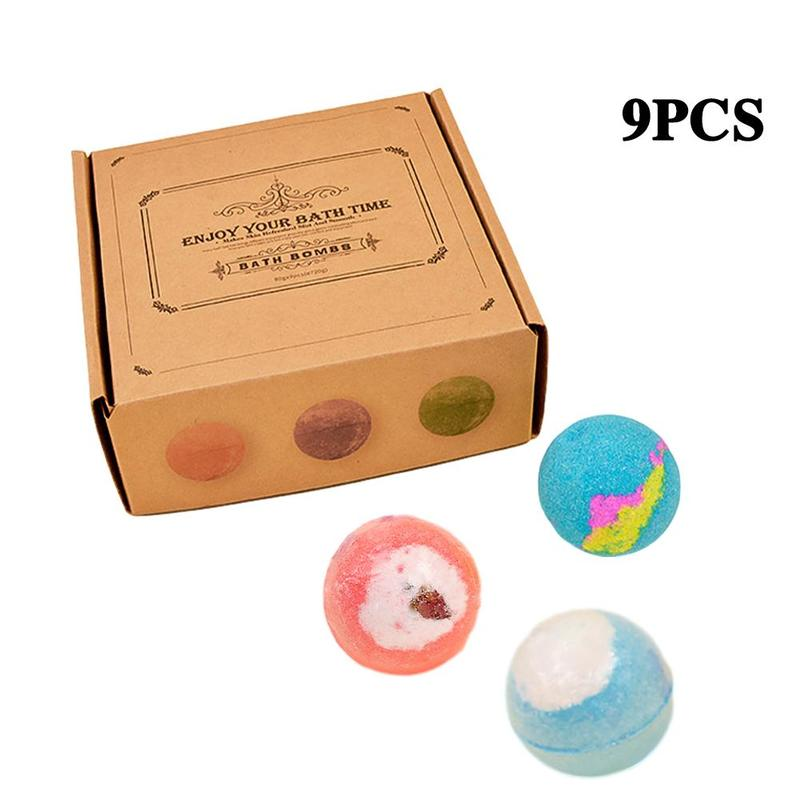 6/9/12 pcs(1 pcs 60g) Bath Bomb Skin Whitening Bath Salt Body Moisturizing Bath Bombs Ball Natural Bubble Bath Salt Ball Gift Se 5