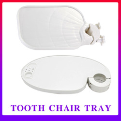 Dental Chair Scaler Tray Plastic Rotatable Plate Post Mounted Shelf Tray Table Shape Clinic Dentistry Chair Accessories