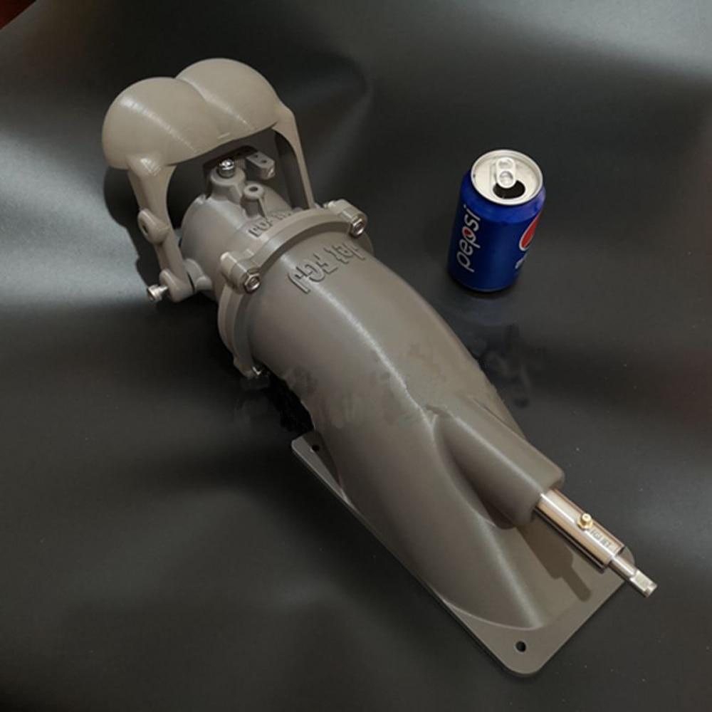 1pcs 100mm Water Jet Pump Dia 10mm CNC Shaft Propulsion Steering Reversing 50kg Thrust For Electric Surfboard Waterjet Propeller