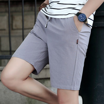 Men's shorts summer casual thin section linen seven points and five pants trend men's clothing