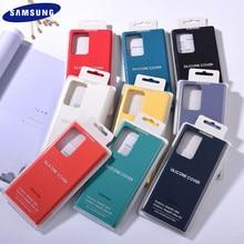 Обратите внимание на 20 Оригинальный чехол для Samsung Galaxy Note 20 Ультра жидкость Мягкий силиконовый чехол для телефона с отделкой Защитная крышк...