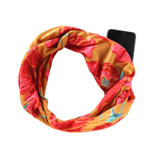 2019 Winter New Women Scarf 170CM Floral Print Loop Neck Infinity Ring Wrap Warm Travel Scarves With Zip Pocket Storage
