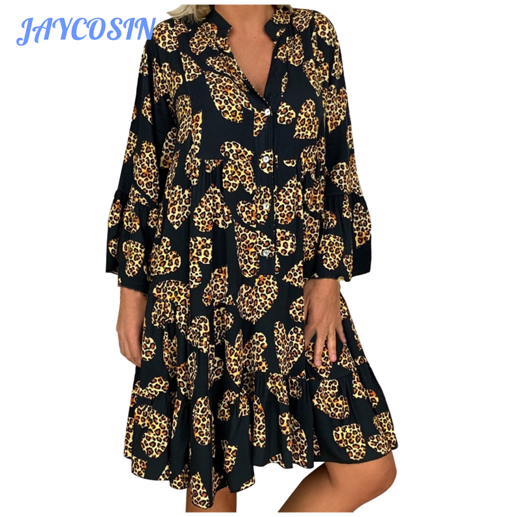 JAYCOSIN Clothes Women Sexy Floral Print Long Sleeve Dresses Woman Party Night 2020 Fashion Loose Mini Dress Summer Plus Size|Dresses| - AliExpress