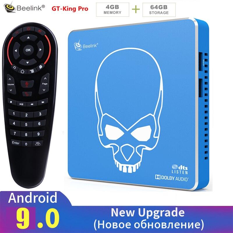 Beelink GT-KING PRO Amlogic S922X-H Smart Android 9.0 TV Box 4GB DDR4 64GB ROM Dolby Audio DTS Listen 4K HD Hi-Fi Media Player
