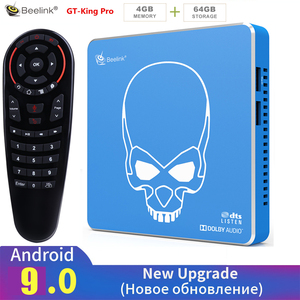 Beelink GT-KING PRO Amlogic S922X-H Smart Android 9,0 TV Box 4GB DDR4 64GB ROM Dolby Audio DTS escucha 4K HD alta fidelidad reproductor de medios