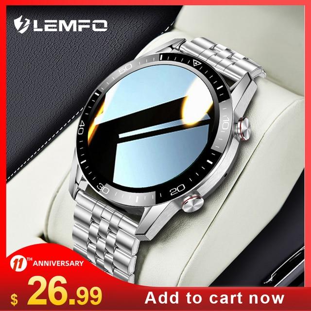 LEMFO ECG Smart Watch Bluetooth Call 2021 Smartwatch Men IP68 Waterproof Fitness Bracelet Clock For Android Xiaomi Huawei iPhone 1