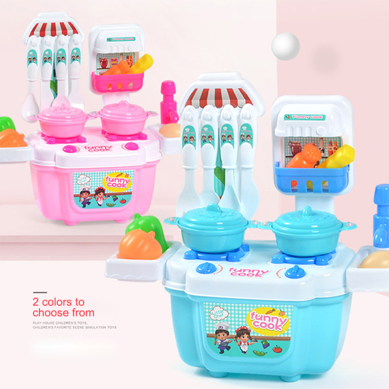 1Set Dinette Enfant Jouet Slime Kit New Children Kids Girl Toy Role Play Mini Simulation Kitchenware Tableware CookwareGifts T6#