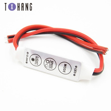 1pcs Mini 3 Keys RGB LED Controller DC 12V LED Dimmer Switch For 3528 5050 5630 SMD RGB LED Strip