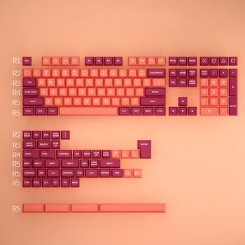 MP  Lava orange KEYS OSA PBT DOUBLE SHOT Keycap FOR Cherry MX switch keycaps for Wired USB Mechanical Gaming keyboard pro wired rgb mechanical keyboard bluetooth wireless cherry switch gaming keyboard double shot backlit keycaps for gamer