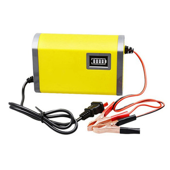 12V 6A Smart Car Battery Charger Full Automatic AGM VRLA Lead Acid GEL Intelligent Motorcycle Charger With LCD Display AC 220V