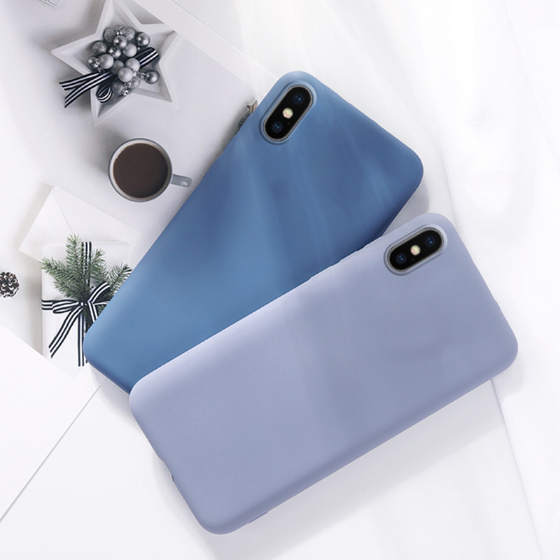 For <font><b>OPPO</b></font> Realme X <font><b>Case</b></font> Phone Bumper Luxury Soft <font><b>Liquid</b></font> Silicone Back Phone <font><b>Case</b></font> For <font><b>OPPO</b></font> Realme X <font><b>Cover</b></font> Funda RMX1901 image