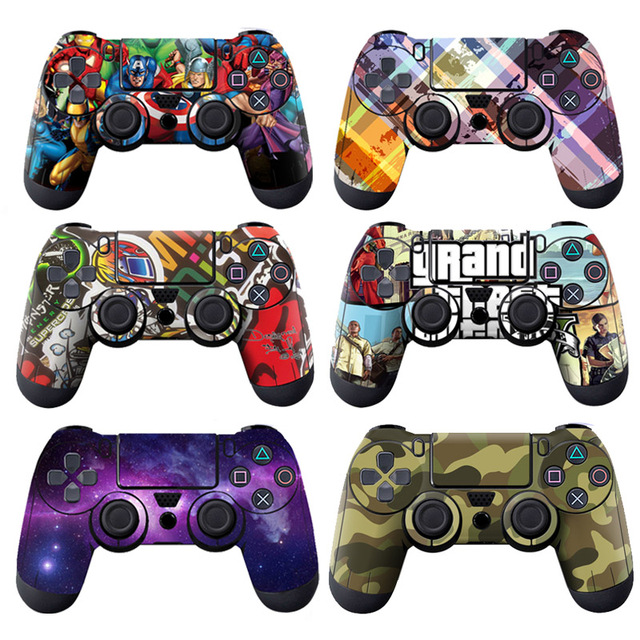 Iron man PVC Custom Sticker Case Protector For Sony for PS4 Playstation 4 Dualshock Controller