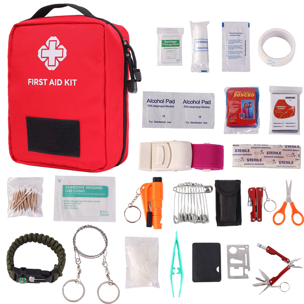 Outdoor First Aid Kit Bag Portable Travel Medicine Emergency Kit Bags Medicine Kit Pouch Case For Travel Hiking Hunting