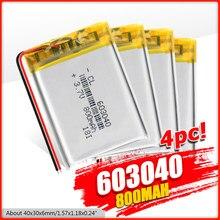 Batteries Lithium-Ion 2/4, rechargeables, 2020 mah, avec Protection Pcb, 603040, 1/800 pièces, 3.7