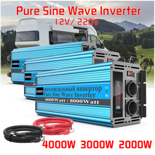 4000W 3000W 2000W Pure Sine WAVE อินเวอร์เตอร์ DC 12V TO AC 220V 8000W 6000W 4000W MAX พลังงานแสงอาทิตย์พร้อมจอแสดงผล LED สำหรับรถยนต์