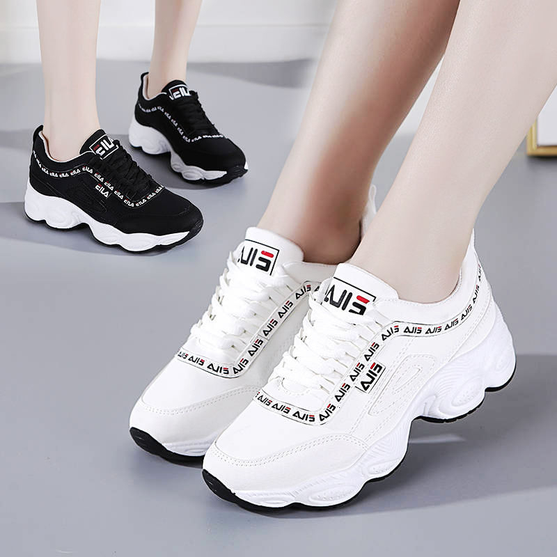 Women Shoes 2019 New Chunky Sneakers For Women Vulcanize Shoes Casual Fashion Dad Shoes Lady Sneakers Basket Tennis Casual Shoes