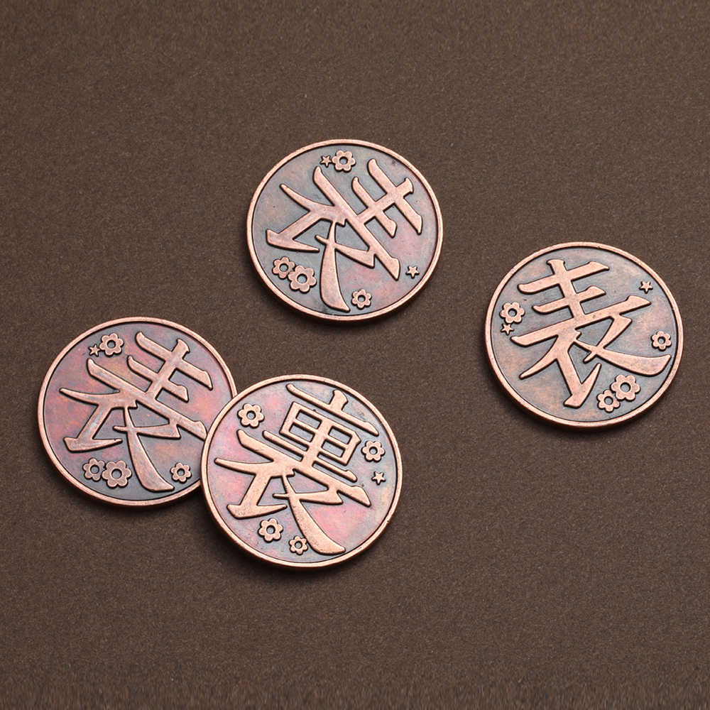 Anime Demon Slayer Coin Cosplay Kimetsu Geen Yaiba Tsuyuri Kanawo Kochou Shinobu Verzamelen Legering Metalen Munten Tokens Collection Props