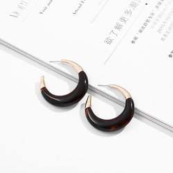 Fashion Jewelry Big Round Geometric Resin Earrings for Women Vintage Patchwork Metal Acrylic Statement Drop Earrings Female 2020
