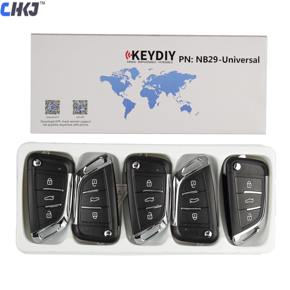 CHKJ 5 pçs/lote KEYDIY Originais KD NB29 Universal Multi-funcional MINI Chave Do Carro Remoto Para KD900/KD-X2 Programador Chave