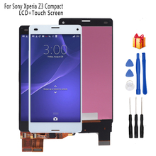 For SONY Xperia Z3 Compact Display Frame Z3 Mini D5803 D5833 Digitizer For SONY Xperia Z3 Compact LCD Screen Display Free Tools 4 6 inch black for sony xperia z3 compact lcd display z3 mini lcd d5803 d5833 touch screen digitizer assembly adhesive