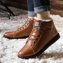 Snow Footwear Shoes Men Plus Velvet Warm Cotton-padDed Shoes Short Shoes Men Casual Footwear Waterproof Ankle Footwear(China)