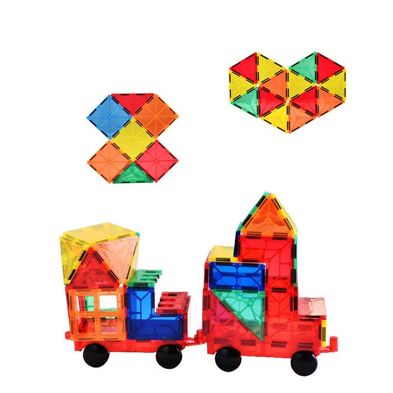 Головоломка магнитный кусок удивительное изменение тянет блоки цвет в коробке мудрости строительство магнит в сборе детские развивающие - 3