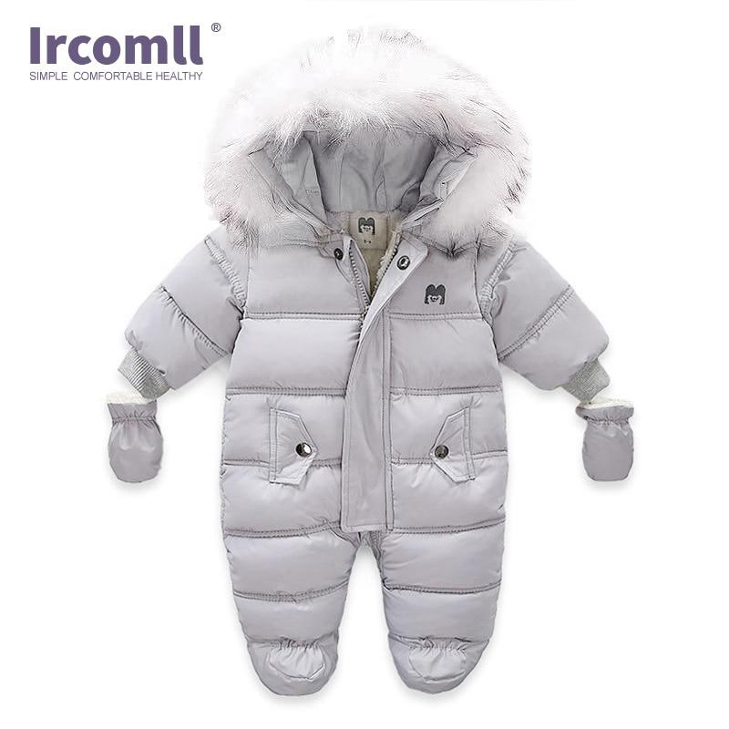 Ircomll/зимняя одежда для новорожденных; Комбинезон для малышей с капюшоном внутри; Флисовая одежда для мальчиков и девочек; Осенние Комбинезоны; Детская верхняя одежда 2