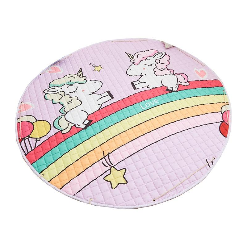 Hff21902a052641b3b8701f648ec4a3e08 Kid Soft Carpet Rugs Cartoon Animals Fox Baby Play Mats Child Crawling Blanket Carpet Toys Storage Bag Kids Room Decoration
