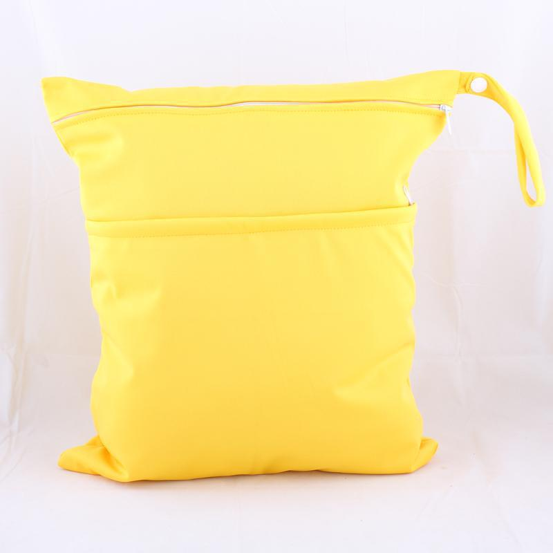 Paradise Double Zipper Infant Only Diaper Pants Diaper Environmentally Friendly Waterproof Bag Storage Bag Diaper Bag -Yellow