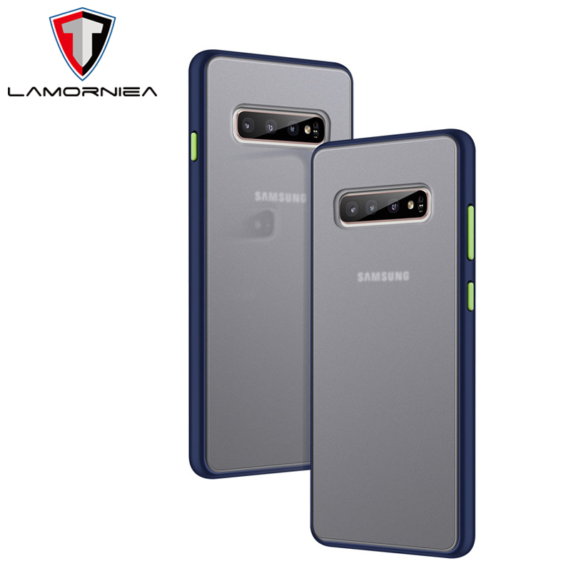 For <font><b>Samsung</b></font> Note 10 Plus <font><b>Case</b></font> Color Luxury Anti Fngerprin Shockproof Cover For <font><b>Samsung</b></font> <font><b>Galaxy</b></font> <font><b>S10</b></font> Plus 5G <font><b>Case</b></font> <font><b>360</b></font> Silicone Edge image