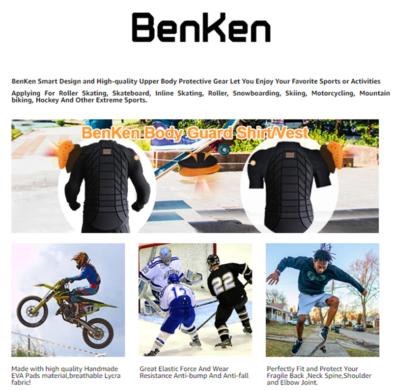 BenKen Ski Butt Pants Hip Protection Butt Guard for Skateboarding Skiing Riding Cycling Snowboarding Overland Racing Armor Pads 21