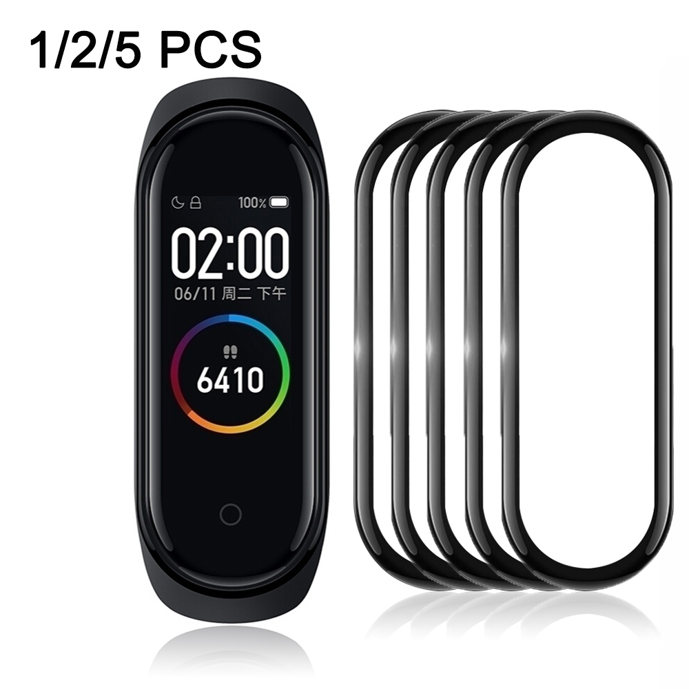 3D Film For Xiaomi Mi Band 4 Protector Soft Glass For Mi Band 4 Strap Screen Protection Case Protective Smart Accessories New