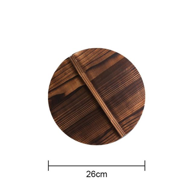 Kitchen Multi-Functional Wooden Pot Cover Handle Pan Lid Eco-Friendly Anti V4M7