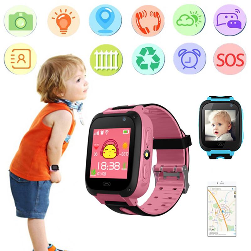 Kids Smart Watch Camera Screen Touch Waterproof Baby Children Anti-lost Tracker SOS Call Safe Wristwatch for Android IOS