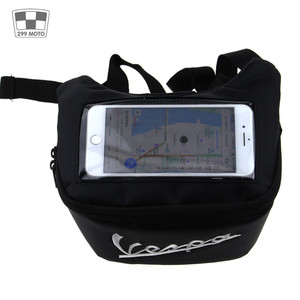 Image 2 - Motorcycle Handlebar Bag, Fuel Tank Bags, Windshield Headphone Bag For Vespa Gts 250 300 Sprint 50 150 Etc.