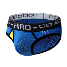 HIRO 2 Color Striped Cotton Sexy Men Undrewear Briefs Men Bikini Pure Cotton Sli