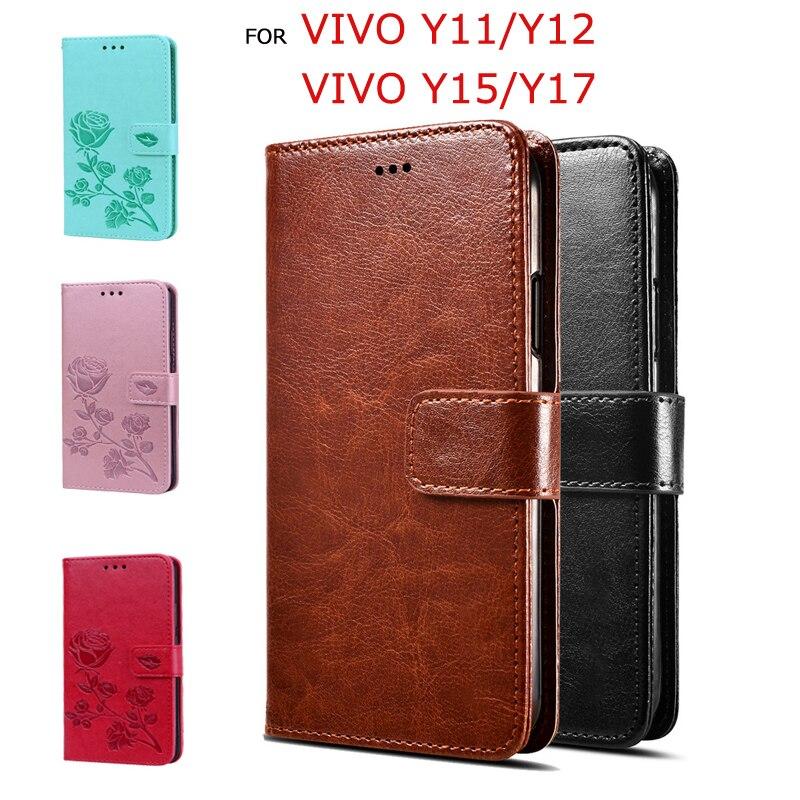 PU Leather Case For Vivo Y15 Y11 Flip Funda Wallet Case For Vivo Y12 Y17 3D Pattern PremiumCover Protective Phone Screen Coque