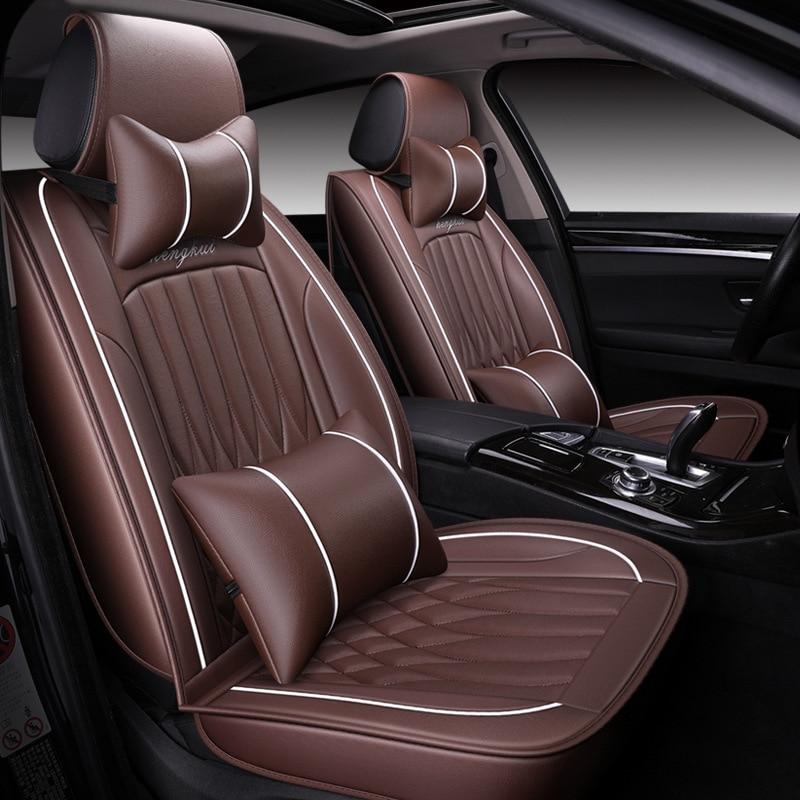Высокое качество, кожаный чехол для автомобиля Geely Atlas Emgrand X7 EC7 GX FE1 mk, все модели, защита для автокресла, автомобильные аксессуары - 2