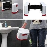 Mobilya'ten Banyo Sandalyeleri ve Tabureleri'de Yeni katlanabilir tuvalet taburesi osmanlı taşınabilir tabure plastik ayak taburesi kalın banyo tabure
