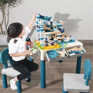 Image 4 - Mesa de madera para niños, mesa de estudio multifuncional, mesa de juego para niños compatible con partículas grandes