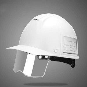 Image 5 - ABS Casco di Sicurezza Di costruzione con Retrattile Trasparente di Protezione Degli Occhi Della Luce Dello Schermo Anti Forte Impatto In Metallo taglio di Estrazione Mineraria