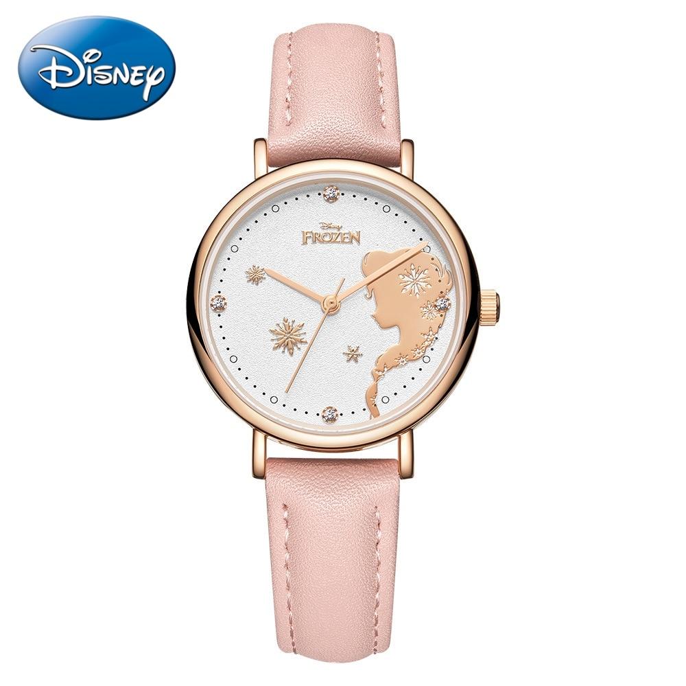 Pretty Girl Beautiful Watch Frozen Princess Young Women Strap Watches Kids Fashion Simple Quartz Wristwatch Ladies Crystal Clock
