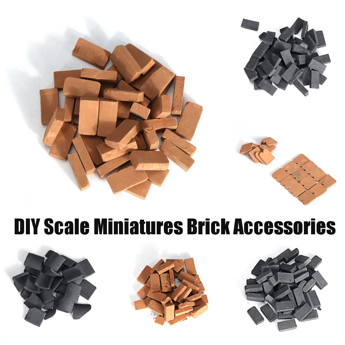 6 Styles DIY Scale Building Blocks Tiny Bricks Set Miniatures Dollhouse Toys Bricks Kids Educational Toys Model Building Kit