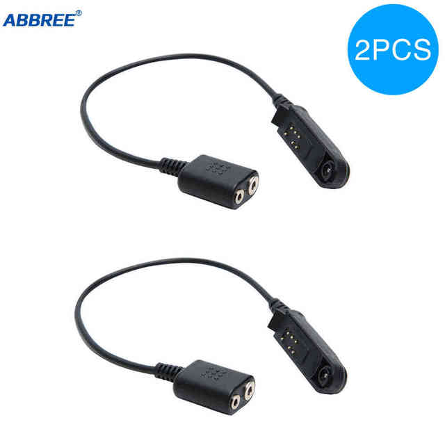2PCS אודיו כבל מתאם עבור Baofeng עמיד למים UV XR UV 9R בתוספת עבור UV 5R BF 888S UV 82 UV S9 ווקי טוקי אוזניות רמקול מיקרופון