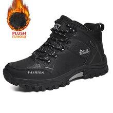Sneakers Winter Work-Boots Autumn Black Outdoor Waterproof Big-Size QZHSMY for Men Non-Slip