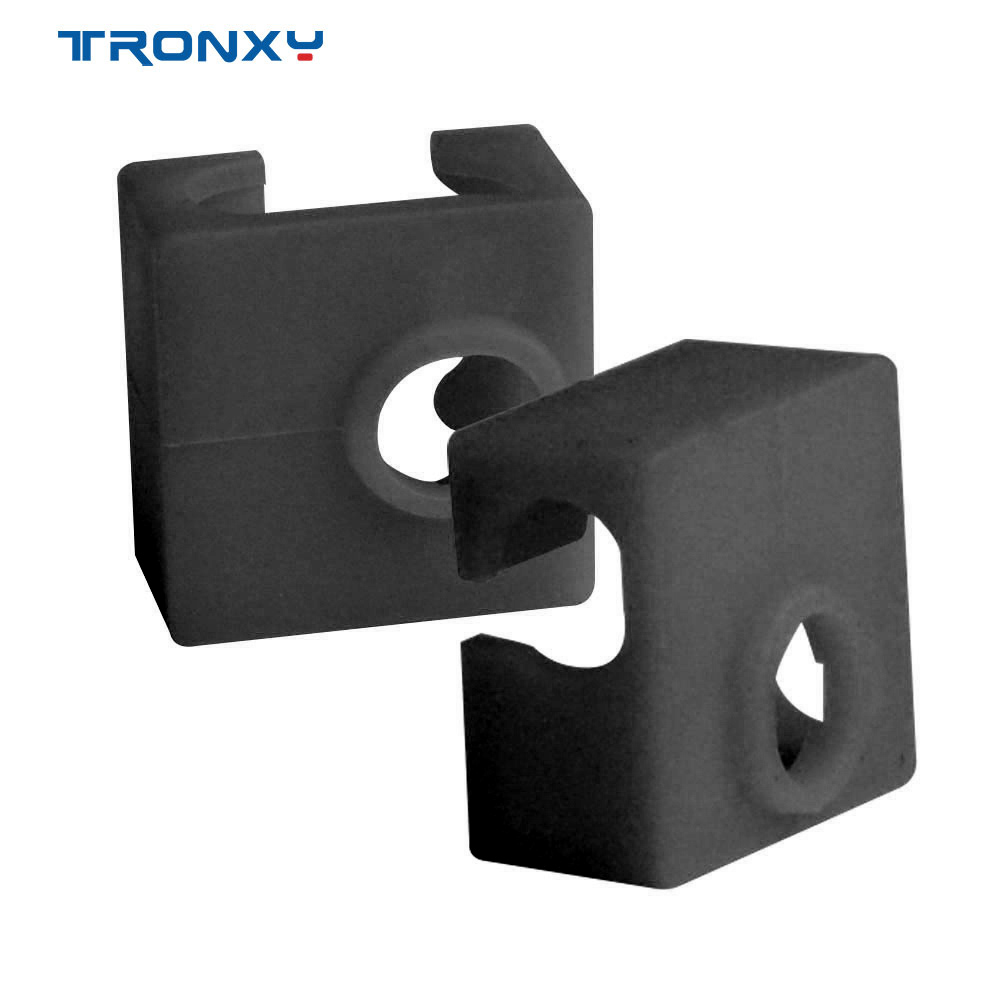 5pcs Tronxy 3D Printer Parts MK8 Protective Silicone Sock Cover Case Size 20 20 10mm Heater Block Hot End Sock 3D Accessories
