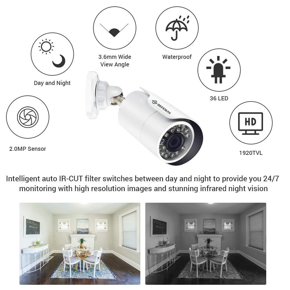 DEFEWAY Video Vigilancia Kit 4CH DVR Sistema de cámara de seguridad - Seguridad y protección - foto 2