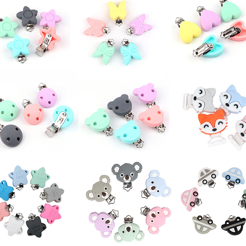 TYRY.HU Pacifier Clips Holder 10PC DIY Baby Pacifier Nursing Chain Holder Teething Toys Jewelry Toy Clip Teething Accessories